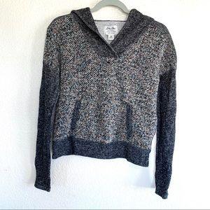 Lucky Lotus Metallic Knit Hooded Sweater
